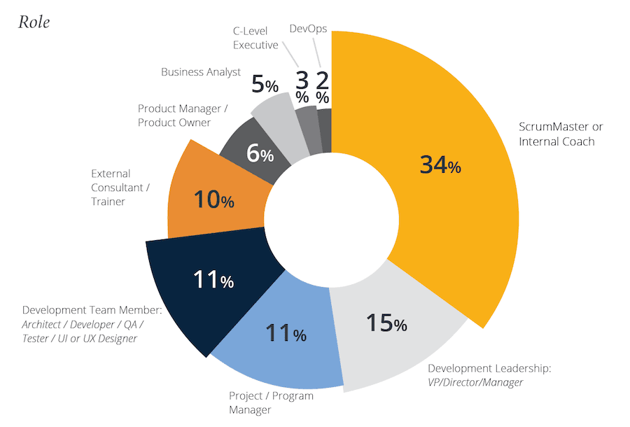percentage of respondents in leadership consultancy roles
